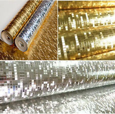 Luxury Glittery Silver Gold Foil Mini Mosaic Night Club KTV Wall Paper Roll 10m