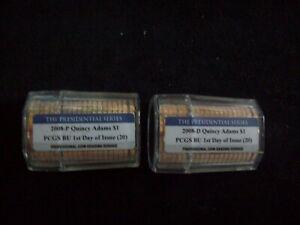 2008 P&D, JQ Adams, Presidential Dollar Rolls, Certified FDOI & Gem BU by PCGS!!