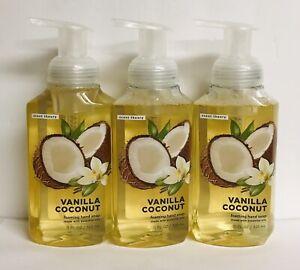 3 Bottles Vanilla Coconut Foaming Hand Soap with Essential Oils 11 fl oz Each