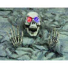 Halloween Skeleton Bones With Ground Stakes/colour changing flashing eyeballs