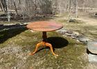 Vintage Eldred Wheeler tiger maple tilt-top breakfast tea table Queen Anne style