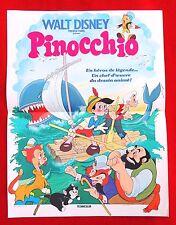 Cinéma. Affiche 40 x 53 cm. PINOCCHIO des Studios Disney. Affiche française 1983