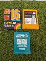 Channel F Videocart-16 Fairchild System Super Rare Dodge' It With Manual & Box