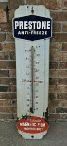 Estate Fresh Vintage Porcelain Anti Freeze Thermometer w/ Magnetic Film. Working