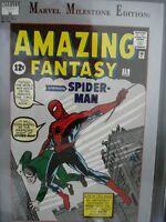 Marvel Milestone Edition : Amazing Fantasy # 15 CGC 9.2 NM-