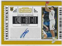 "2019 CONTENDERS DRAFT PICKS JONTAY PORTER ""COLLEGE TICKET"" AUTO RC #73 TIGERS"