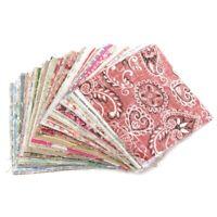 1X(100Pcs 10x10cm Square Floral Cotton Fabric Patchwork Cloth For DIY Craf B1B6)