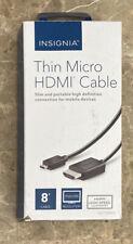 Open-Box Excellent: Insignia- 8' HDMI-to-Micro HDMI Cable - Black