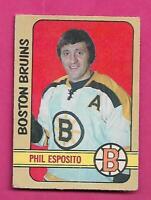 1972-73 OPC # 111 BRUINS PHIL ESPOSITO GOOD CARD (INV# D5927)