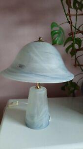 MURANO GLAS TISCHLAMPE Nachttischlampe Lampe Italien Original