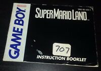 SUPER MARIO LAND INSTRUCTION MANUAL BOOKLET ONLY GAMEBOY