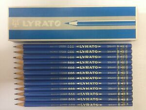 12 VINTAGE LYRA PENCILS: <LYRATO> 666 H -  MADE IN GERMANY, UNUSED, NOS