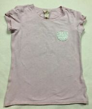 Matilda Jane T Shirt 12 Purple Knit Pocket Scoop Neck Short Sleeve Cotton
