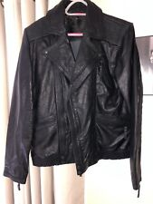 ASOS QUALITY REAL LEATHER  BLACK BIKER JACKET SIZE M RRP £135