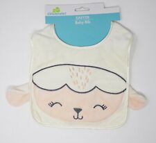 Easter Cloth Baby Bib - Lamb