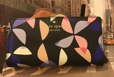 NWT Kate Spade  Hawthorne Lane Spinner Stacy Bifold Wallet Rich Navy Multi New