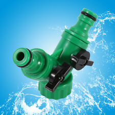 2-Way Hose Pipe Adapter Y Connector Quick Coupling For Garden Drip Irrigation IJ