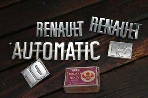 Original Vintage 1965 1970 RENAULT 10 TS Badges Emblems Ornaments Sign Automatic