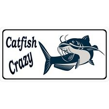 catfish crazy picture photo license plate made in usa