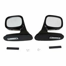 Pair Universal Car Auto Rear Side View Mirror Exterior Mrrior Assembly Black