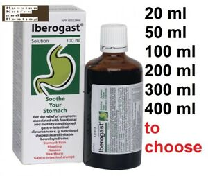 IBEROGAST 100-400 ml Drops STOMACH PAIN BLOATING GASTRO-INTESTINAL CRAMPS 2022