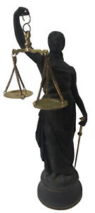 """Blind Lady of Justice Scales Law Lawyer Attorney Office Statue Figurine 12"""""""