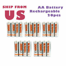 20pcs AA Rechargeable Battery 3000mAh Ni-MH 1.2V Cell NiMH UltraCell US Stock