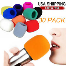 30 Pack Handheld Microphone Windshield Wind Shield Sponge Foam Cover Thicken Usa