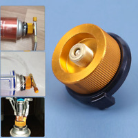 Outdoor Camping Gas Adapter Converter Furnace Connector for Butane Gas Can Split