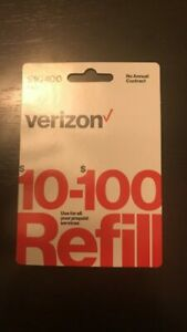 Verizon Wireless Prepaid $25 Refill Top Up (RTR Direct Load to Phone) 1-24 hours