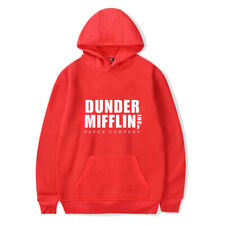 Dunder Mifflin Fashion Printed Hoodie Casual Sweatshirt Hooded Unisex Pullover