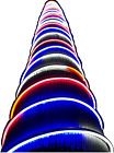 Russell Decor 100ft Red White Blue LED Neon Rope for 4th July Patriotic Memorial