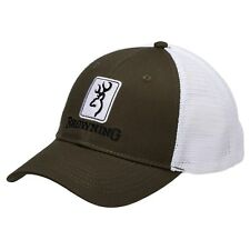 Browning Dry Creek Truckers Hat Baseball Cap Loden / White New