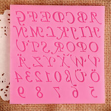 Alphabet +Numbers Letters Silicone DIY Fondant Cake Chocolate Mold Mould Tool