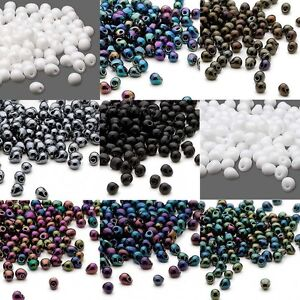 10 Grams of 180 Miyuki Glass Teardrop Drop Fringe Seed Beads in Opaque Colors