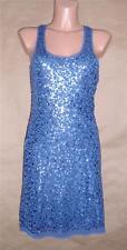 Max Studio M Blues Nylon Polyester Spandex Shell Sleeveless Knee-length Dress