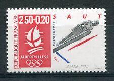 FRANCE 1992 timbre 2738, SPORT, SAUT à SKI , JEUX OLYMPIQUES ALBERTVILLE, MNH