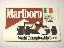 VECCHIO ADESIVO AUTO F1 / Old Sticker ITALIAN MONZA GRAND PRIX (cm 13 x 8)