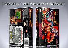 BREATH OF FIRE. NTSC VERSION. Box/Case. Super Nintendo. BOX + COVER. (NO GAME)