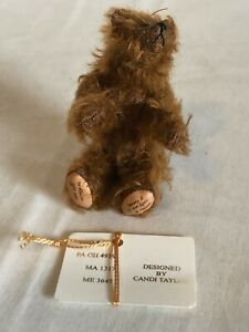 "LITTLE GEM Bear LE Miniature 4"" Brown Grizzly Bear CHESTER I #740/2000."