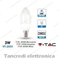 Lampadina led V-TAC 3W = 25W E14 VT-2033 a candela attacco piccolo smd VTAC