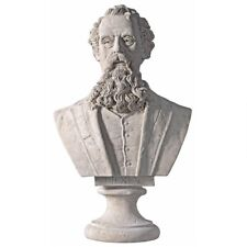 Charles Dickens Design Toscano Faux Stone Finish Grand Scale Sculptural Bust