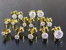 Gold Ohrstecker 333 Gelbgold Zirkonia Solitär Ohrringe Paar oder Einzeln Unisex