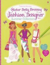 Usborne Sticker Dolly Dressing: Fashion Designer Summer Collection c2013 NEW PB