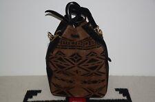 6b48a1c493 Ralph Lauren Collection Purple Label Suede Leather Drawstring Crossbody Bag