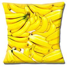 Bananas Cushion Cover 16x16 inch 40cm Novelty Photo Print for Kitchen Restaurant