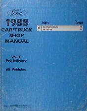 1988 Ford Maintenance Manual F150 F250 F350 Bronco Ranger Econoline E150-E350