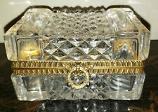 GORGEOUS AUTHENTIC MARTIN BENITO CRYSTAL JEWELRY CASKET BOX FRANCE SIGNED GOLD