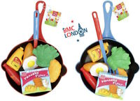 Childrens/Kids Toy Pans Kitchen Play-Food Set Village Cooking Play Food Set