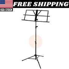 Sheet Music Stand Musical Score Notes Tripod Black Folding Carrying Bag Foldable